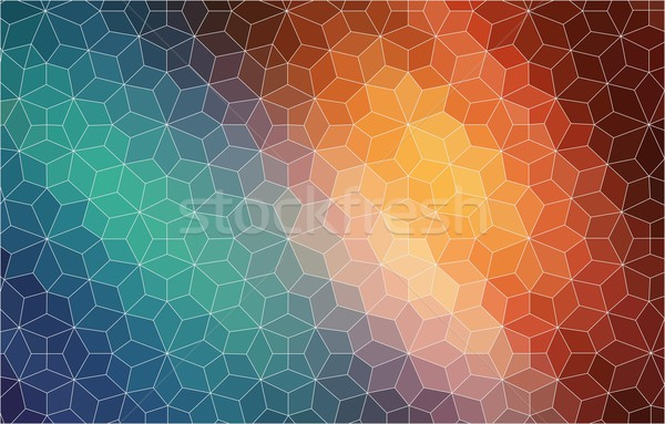 Abstract 2D mosaic colorful background Stock photo © igor_shmel