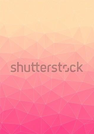Nascer do sol triângulo fundo geométrico formas arte Foto stock © igor_shmel