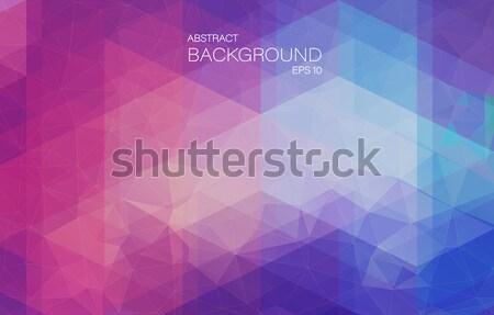 抽象的な モザイク 三角形 ウェブ 水 ストックフォト © igor_shmel