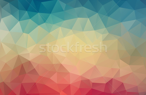 Stok fotoğraf: Bağbozumu · renk · geometrik · üçgen · duvar · kağıdı · doku