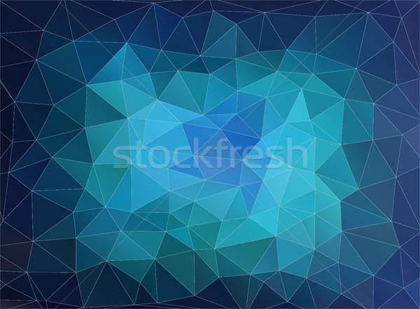 Horizontal blue polygonal banner. Stock photo © igor_shmel