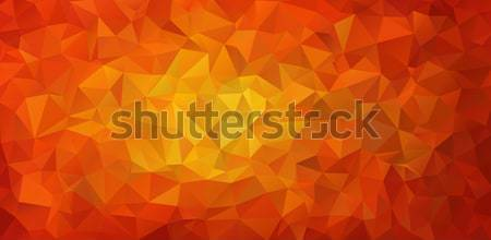 Yellow red abstract polygonal background Stock photo © igor_shmel