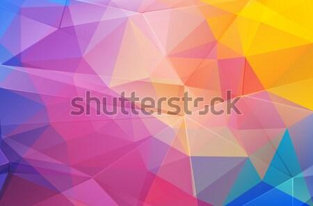 Abstrato formas gradiente triângulo web design textura Foto stock © igor_shmel