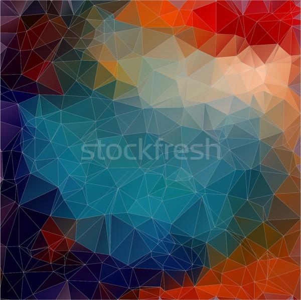 Vetor triângulo papel de parede geométrico padrão textura Foto stock © igor_shmel