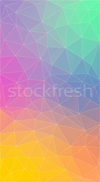 Vertical Flat polygonal Background for smartphone. Stock photo © igor_shmel