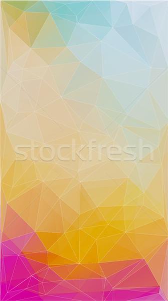 свежие цвета треугольник аннотация форма текстуры Сток-фото © igor_shmel