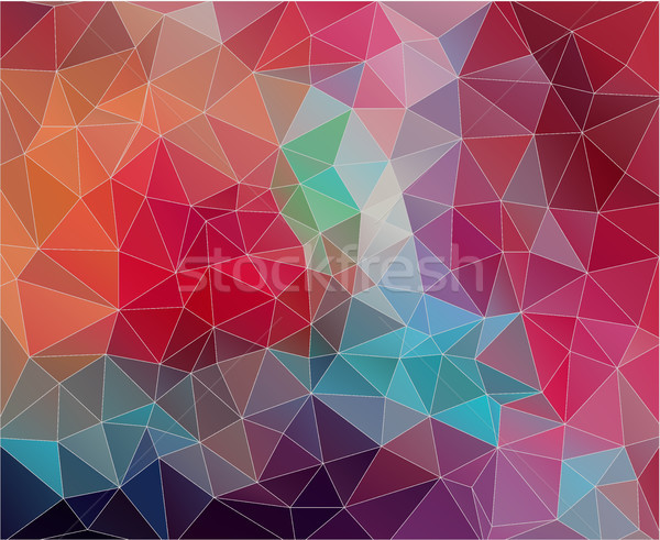 Flat triangle Background with vintage color. Stock photo © igor_shmel