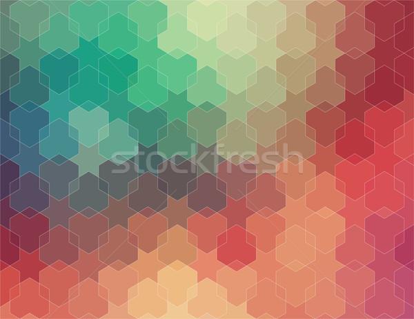 抽象的な 幾何学的な カラフル ウェブ ファッション 光 ストックフォト © igor_shmel