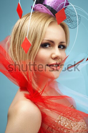 Pretty woman. Cosplay style with bright creative hair.  Stock photo © igor_shmel