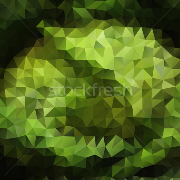 Groene kleur abstract driehoek mozaiek vector Stockfoto © igor_shmel