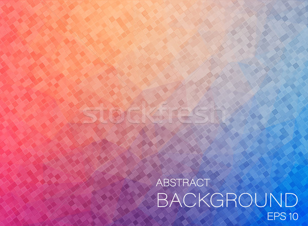 Composition with square geometric shapes Stock photo © igor_shmel