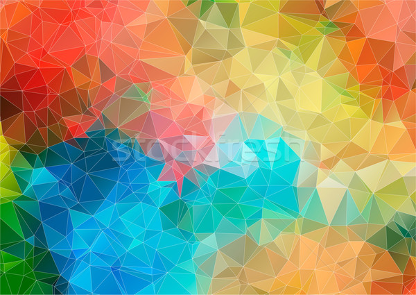 Stock photo: multicolor mosaic composition with ceramic shapes