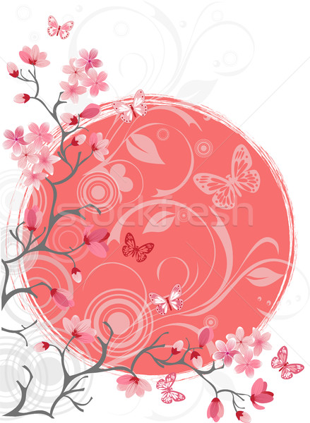 Cherry Blossom дерево белый дизайна вектора красный Сток-фото © igor_shmel