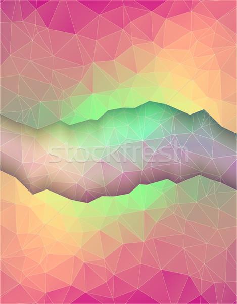 グリーティングカード スタイル カラフル 折り紙 休日 デザイン ストックフォト © igor_shmel