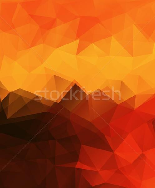 Soyut afiş vektör dikey geometrik Stok fotoğraf © igor_shmel