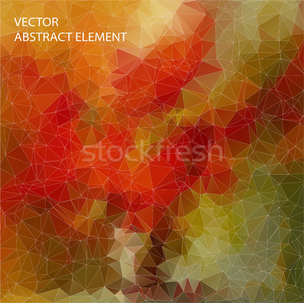 Yellow and Red abstract mosaic background with triangle shapes Stock photo © igor_shmel