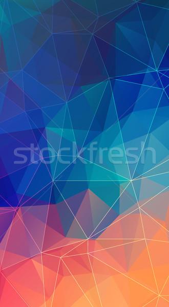 Vertical polygonal Background for your smartphone. Stock photo © igor_shmel