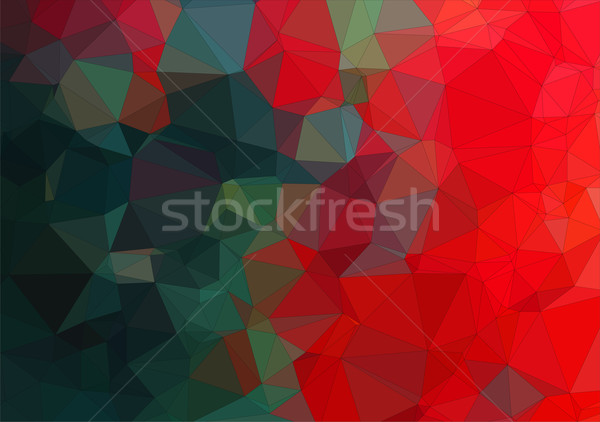 Composition with red and green geometric shapes Stock photo © igor_shmel