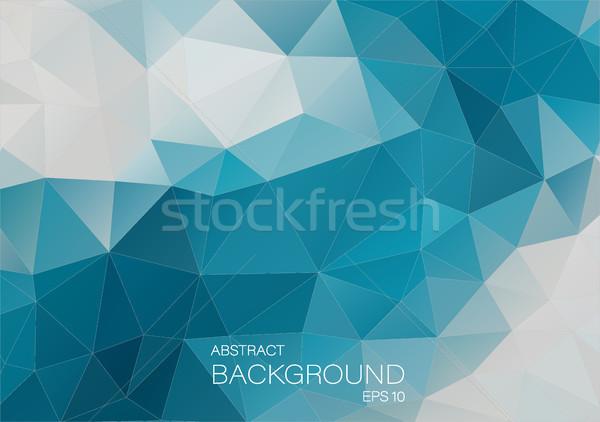 Mavi beyaz üçgen soyut biçim arka plan Stok fotoğraf © igor_shmel