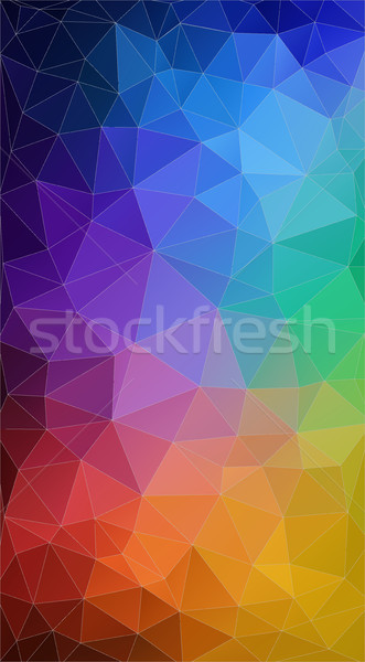 Vertical triângulo arco-íris cor bandeira vetor Foto stock © igor_shmel