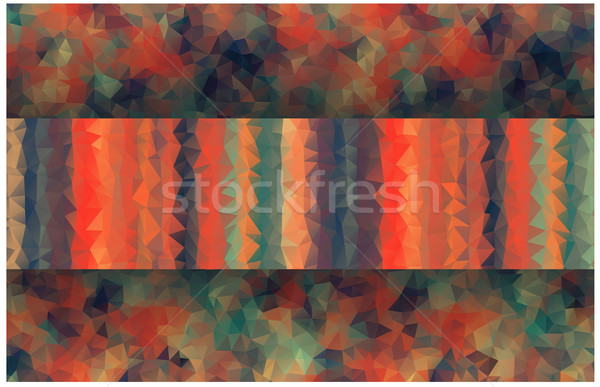 vintage color banner srtip with triangle shapes Stock photo © igor_shmel