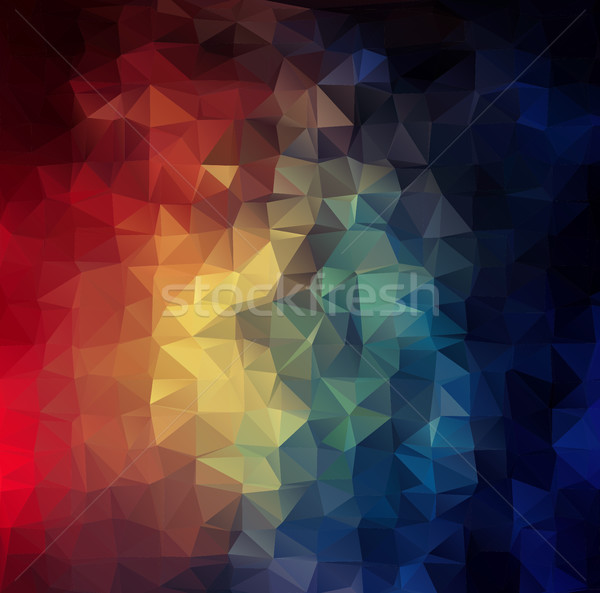 Abstract 2D colorful triangle geometric background Stock photo © igor_shmel