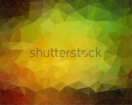 Amarelo verde vetor formas abstrato cor Foto stock © igor_shmel