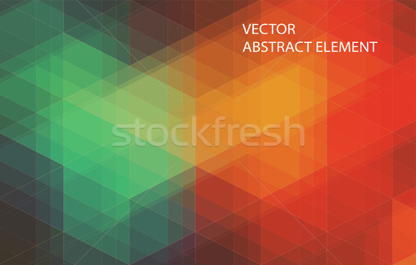 Yellow and Blue abstract mosaic background with triangle shapes Stock photo © igor_shmel