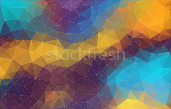 Pop Mesh Dreieck abstrakten Web blau Stock foto © igor_shmel