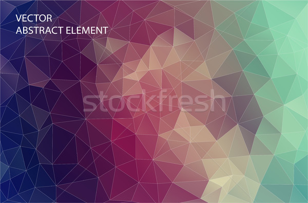 Abstract 2D geometric colorful background. Design for web. Stock photo © igor_shmel