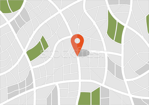 2d travel and navigation planning. pin with map icon. vector Stock photo © igor_shmel