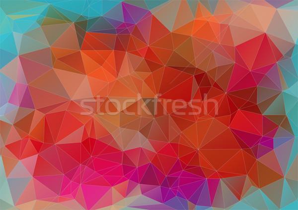 Triangle abstract flat colorful background Stock photo © igor_shmel