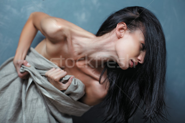 Portrait of stressed young woman Stock photo © igor_shmel
