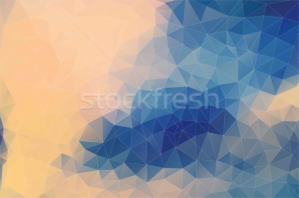 Flat pastel color geometric triangle wallpaper Stock photo © igor_shmel