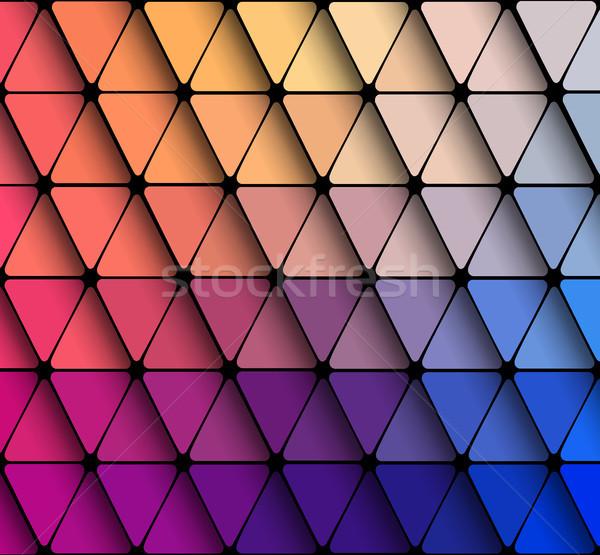 Stok fotoğraf: Geometrik · üçgen · duvar · kağıdı · vektör · su