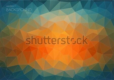抽象的な 三角形 ウェブ 青 オレンジ 芸術 ストックフォト © igor_shmel