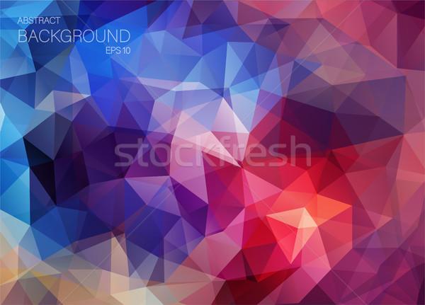 Stok fotoğraf: Retro · renk · geometrik · üçgen · duvar · kağıdı · model