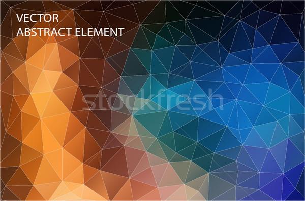 抽象的な 幾何学的な カラフル デザイン ウェブ 三角形 ストックフォト © igor_shmel