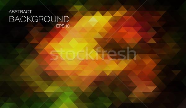 ヒップスター 色 三角形 ヴィンテージ ベクトル 抽象的な ストックフォト © igor_shmel