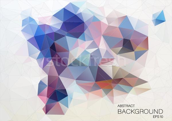 抽象的な デザイン 三角形 ウェブ テクスチャ 光 ストックフォト © igor_shmel
