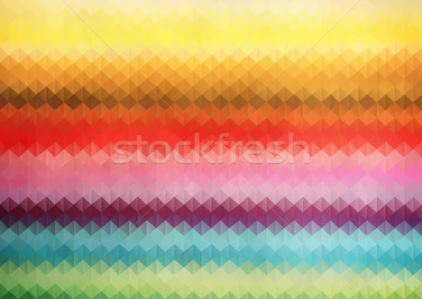 虹 色 三角形 グリッド 幾何学的な 抽象的な ストックフォト © igor_shmel