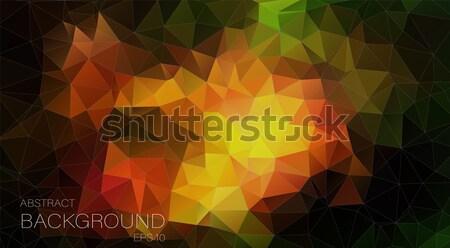 çokgen geometrik vektör teknoloji sanat web Stok fotoğraf © igor_shmel