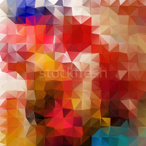 Abstract 2D mosaic triangle geometric background Stock photo © igor_shmel