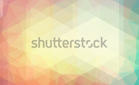 Pastel renk üçgen web ışık Stok fotoğraf © igor_shmel