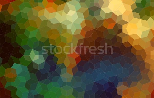 Güzel soyut mozaik renkli geometrik stil Stok fotoğraf © igor_shmel