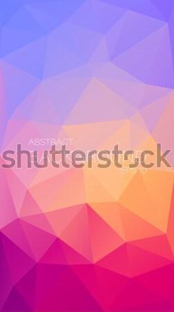 Retró stílus háromszög formák mértani színes mozaik Stock fotó © igor_shmel