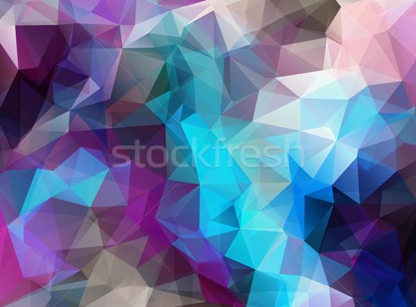 Stok fotoğraf: Yatay · ekstra · renk · geometrik · üçgen · duvar · kağıdı