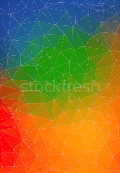 colorful abstract 2D geometric background Stock photo © igor_shmel