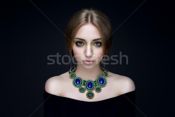 肖像 小さな 美人 宝石 美しい ブルネット ストックフォト © igor_shmel