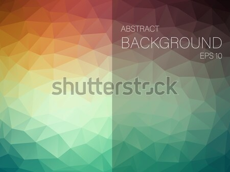 Triangle colorful abstract background. Stock photo © igor_shmel